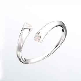 ダイヤモンドリングエレガントなダイヤモンドリング新鮮なシンプルなプラチナリング14Kホワイトゴールドミニマリストの女性のリングジ