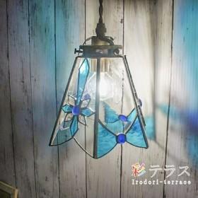 クリアブルーのペンダントライト Blue Crystal B