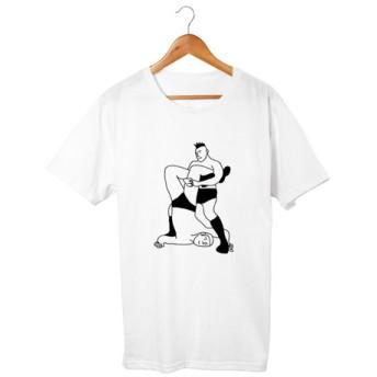 プロレスTシャツ テキサスクローバーホールド(5.6oz)