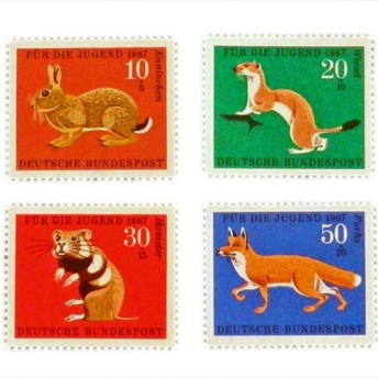 ドイツシリーズ切手(動物)Germany DA-STE078