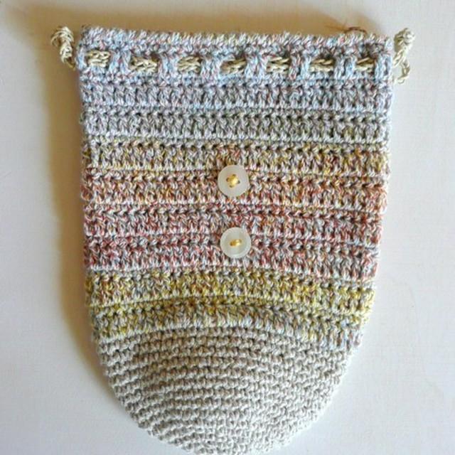 手編み巾着