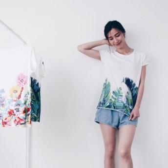 シャコンヌ - 手作りライトコットン半袖Tシャツ
