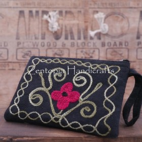【Zentopia手工芸】刺繍革の財布/クラッチ/入場パッケージLHB510-BB
