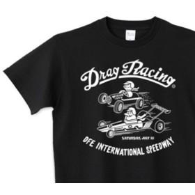 ドラッグ レース☆1/4マイル☆アメリカンレトロ 150.160.(女性M.L) S XL Tシャツ【受注生産品】