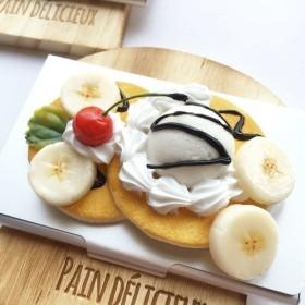 チョコバナナのパンケーキカードケース 名刺入れ