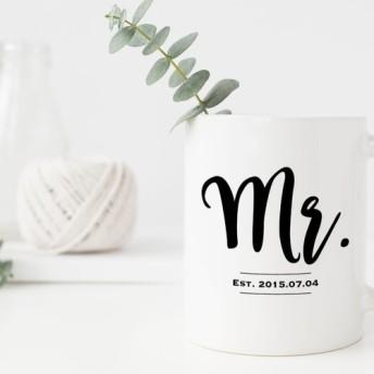 オーダーメイド 名入れペアマグカップ【Mr.&Mrs.】│結婚祝い