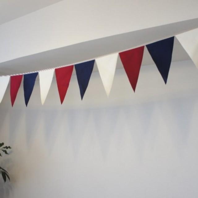 布ガーランド 290cm フラッグ 旗 キャンプ・パーティ飾り トリコロール