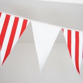 布ガーランド 290cm フラッグ 旗 結婚式 パーティー キャンプ 店舗装飾 飾り 赤ストライプ