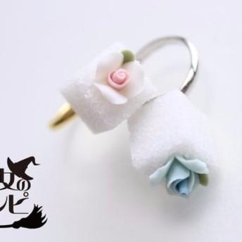 薔薇の角砂糖指輪