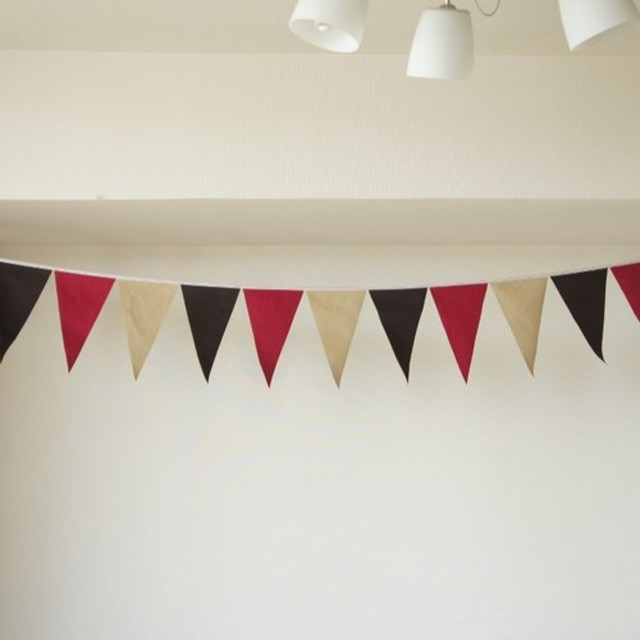 布ガーランド 290cm フラッグ 旗 結婚式 誕生日 パーティー キャンプ 飾り オータム