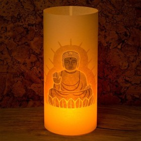 和紙ランプ「奈良」手描きLEDあんどん