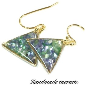 sway triangle green&purple