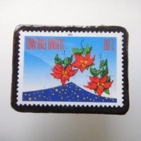 フィンランド 切手ブローチ1677