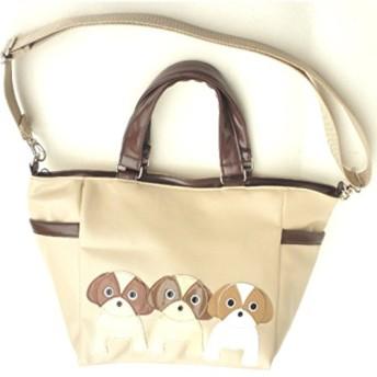【送料無料】犬柄トート 3匹シリーズ シーズー お散歩バッグ