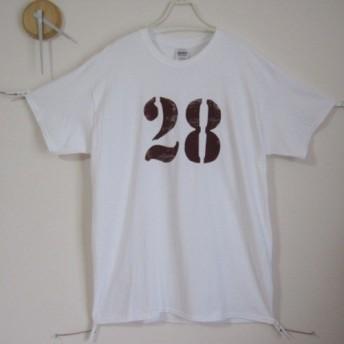 オリジナル1点 ナンバーTシャツ 26 プレゼント/誕生日/ギフト/ワイン/ミリタリー/メンズ/海/夏/レディース/白
