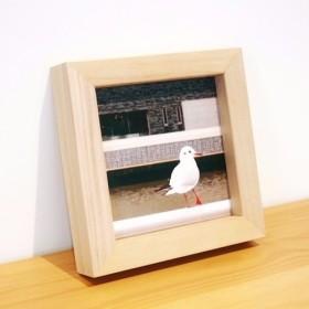 シーガル写真×手作りの木製フレーム