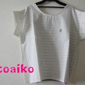 綿麻100%♪キラキラ☆ラメシャツ(ホワイト)