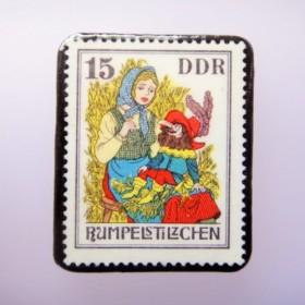 ドイツ 童話切手ブローチ909