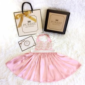 最も純粋なベビーコレクション 豪華な少しドレスバービーの王女 エプロンドレスギフト ベスト赤ちゃんの出産選択肢の年齢の儀式のギフ