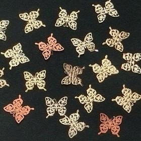 メタルパーツ 蝶々E(ゴールド)30枚セット ★レジン&ネイルに使える封入素材