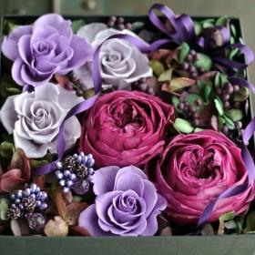 フラワーボックス♪大人色ローズ 響花