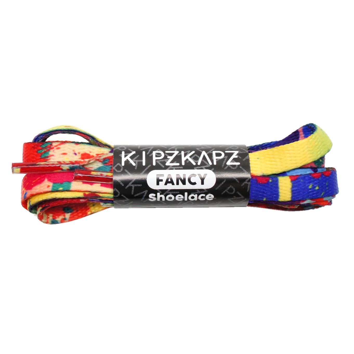 KipzKapz XS16 Rainbow Splash 115cm / 140cm - Tali Sepatu Flat Printed Shoelace