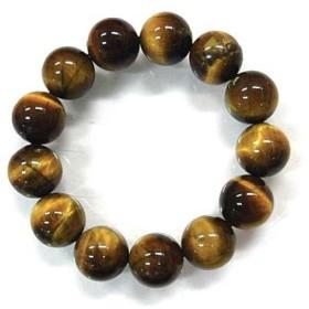 天然石 タイガーアイ15.5mm玉ブレスレット 内周:約18.3cm 160720282
