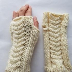 模様編みミトン