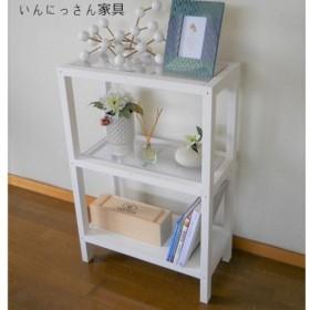 シェルフ 棚 3段 いっにさん家具 W600 WH