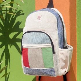限定版のギフト七夕綿のステッチデザインのバックパック/ショルダーバッグ/エスニック登山バッグ/パッチワークのバッグの後/コットン