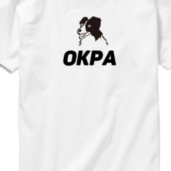 カワイイ手書き犬イラストT「OKPA」