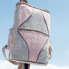 カラーフローライン - バックパック/ショルダーバッグ/エスニック登山バッグ/パッチワークバッグ/コットンバックパック/トラベル