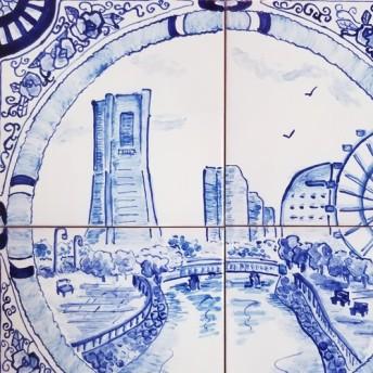 ヨコハマ風景のタイル画