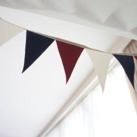 布ガーランド 90cm フラッグ 旗 キャンプ&パーティー トリコロール