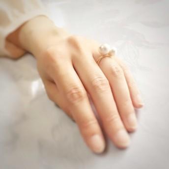 cotton pearl 華奢リング