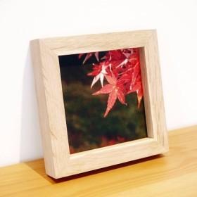 紅葉写真×手作りの木製フレーム