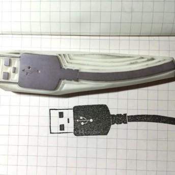 【受注生産】USBケーブルはんこ