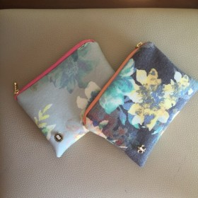 flower cosmetic pouch