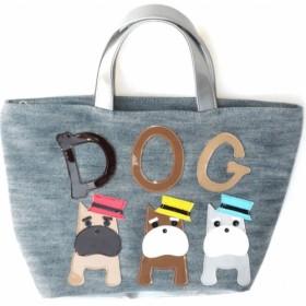 【送料無料】シュナウザーのデニムトート グッグ 雑貨 犬柄バッグ