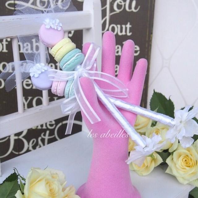 マカロンが可愛いウェディングペン 結婚式のウェルカムスペースや受付にオススメ