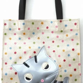 不機嫌ニャンコ トラ猫 トートバッグ 小さめ レディース 手提げバッグ 小物 猫柄 猫雑貨 猫グッズ 好き プレゼント