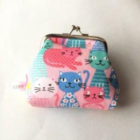がま口財布 カラフル猫