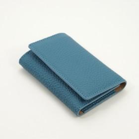 ドイツシュリンク 本革 5連 キーケース 3つ折り カードポケット付 (ジーンブルー)