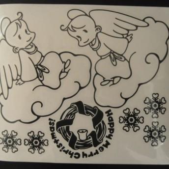ウォールステッカー 天使のクリスマスC