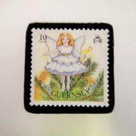 ガンジー クリスマス切手ブローチ1949