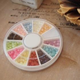 ☆送料無料☆12色セット 【プラスチック カラーパール/ 直径3mm】Nsa1509060238