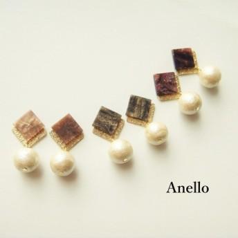 marble square × pearl pierce