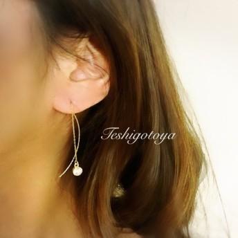 circle zirconia american pierce/ earring