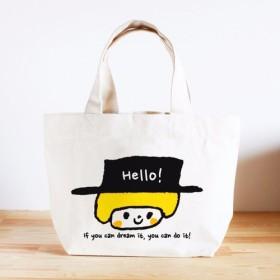 名前が入れられるキッズトートバッグ(Hello!)