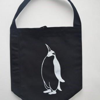 ペンギン へヴィーキャンバス ワンショルダーバック ブラック